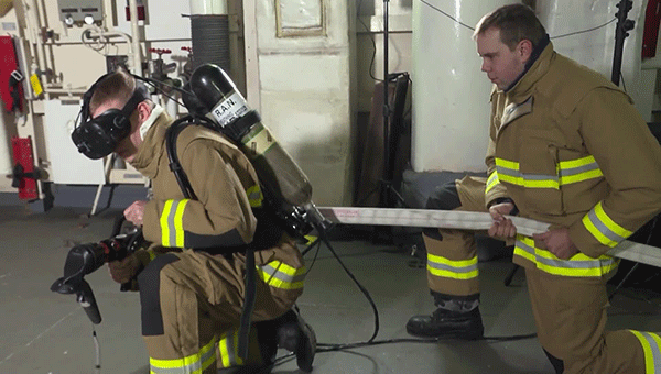 simulación virtual para bomberos