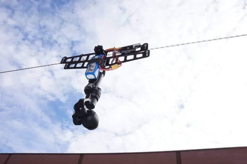 cable cam grabación aerea