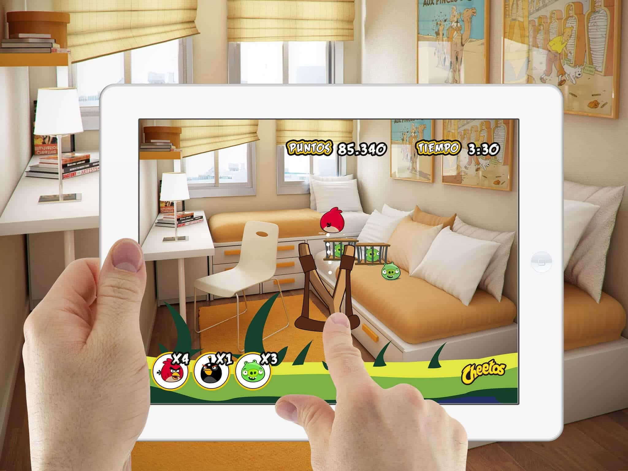 Augmented reality game Angry Birds Cheetos