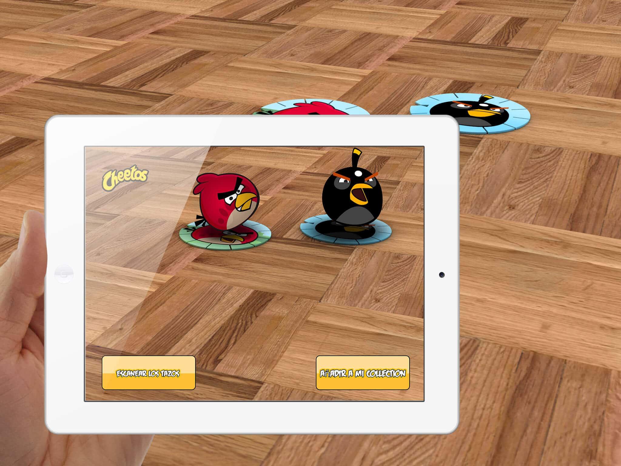 Juego en realidad aumentada Cheetos Angry Birds