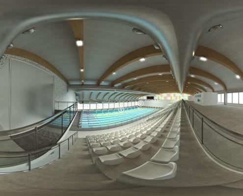 Realidad virtual experiencia 360 piscina