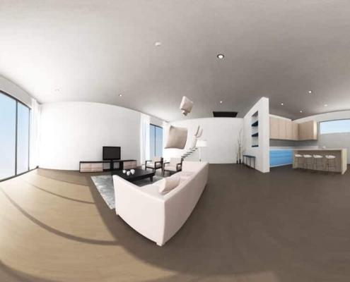 Realidad Virtual 360 animación 3D catalogo virtual finsa