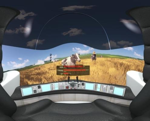 Realidad Virtual 360 animación 3D alimentación saludable
