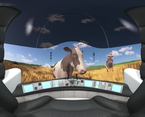 Virtual Reality 360 3D animation