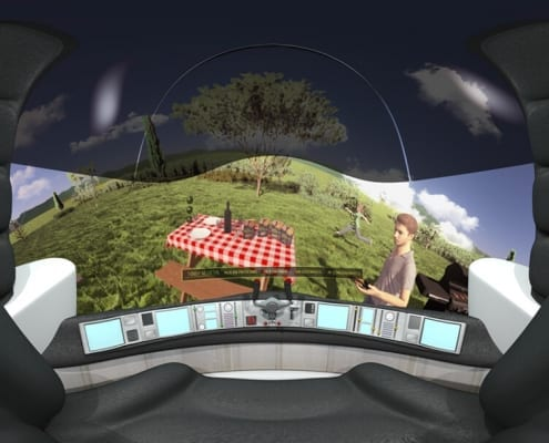 360 Virtual Reality 3D animation healthy eating