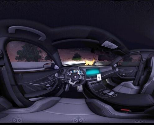 Realidad virtual experiencia 360 coche