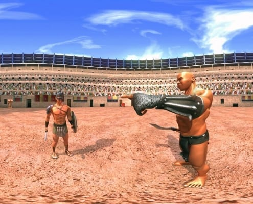 Virtual reality roman gladiators