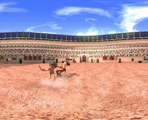 Realidad virtual gladiadores romanos