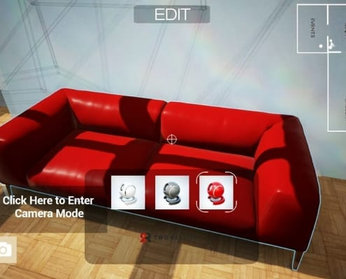Furniture configurator in Virtual Reality