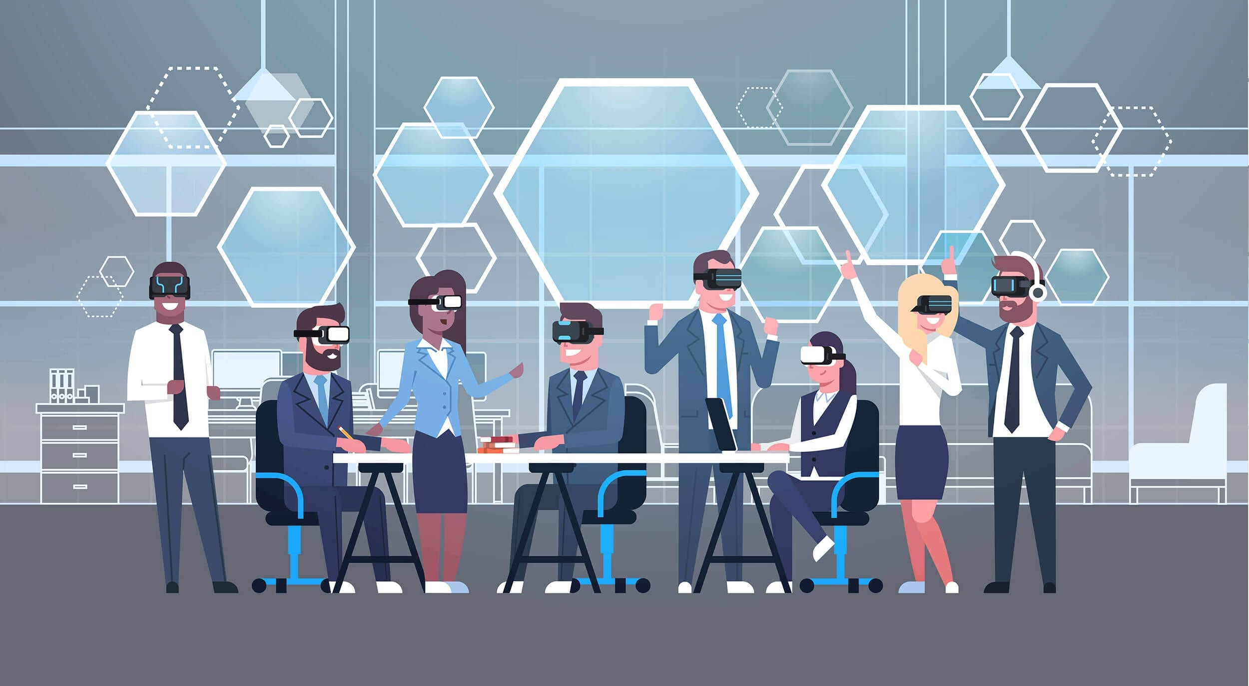 realidad virtual meeting