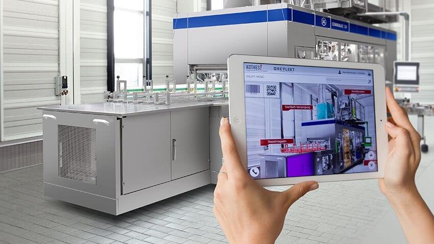 maquinaria industrial realidad aumentada